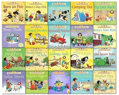 Usborne Farmyard Tales Stories - 20 Book Box Set Collection - RRP: £79.80