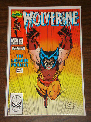 Wolverine #27 Vol1 Marvel Comics X-Men July 1990