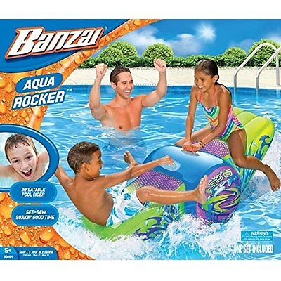 Banzai Aqua Rocker Inflatable 2 Person See Saw Pool Water Rider Toy w/ Box B110
