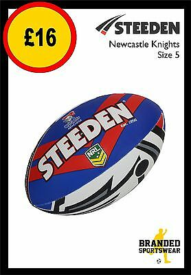 Steeden Newcastle Knights NRL Team Supporter Rugby Ball Size 5 NEW