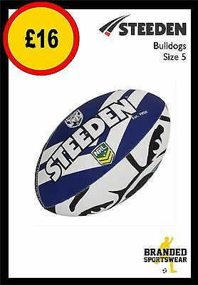 Steeden Bulldogs NRL Team Supporter Rugby Ball Size 5 NEW