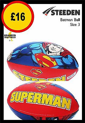Steeden Superman Supporter Rugby Ball Size 3 NEW