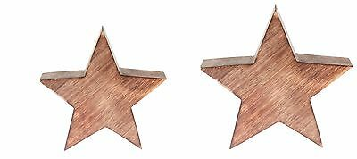 Small/ Large Lodge Christmas Wooden Block Star, Home Decor Festive, Sass & Belle