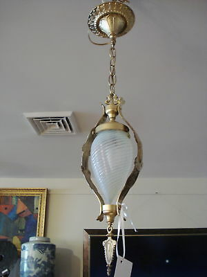 Superb and Rare Victorian Ceiling lamp w/ french shade