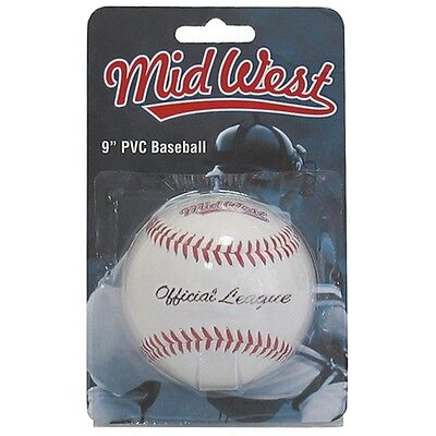 "9"" Official League Pvc Baseball Ball - 9"" Midwest Sports Size"