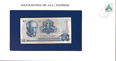 "Norway ~ 1982 ~ 10 Kroner Note ~ Cu ~ ""banknotes Of All Nations"""