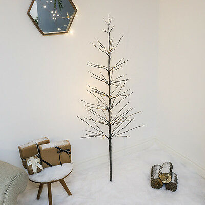 160 Led Indoor Outdoor Pre Lit Snowy Christmas Twig 1.6M Tree Light Decoration