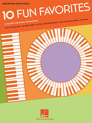 10 Fun Favorites for Beginning Piano Solo Sheet Music 10 Kids Songs Book NEW