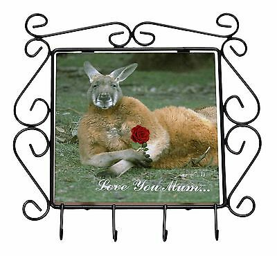 Kangaroo+Rose 'Love You Mum' Wrought Iron Key Holder Hooks Christmas, AK-1RlymKH