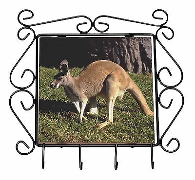 Kangaroo Wrought Iron Key Holder Hooks Christmas Gift, AK-2KH