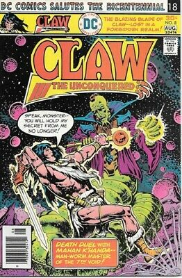 Claw The Unconquered Comic Book #8 DC Comics 1976 VERY FINE-