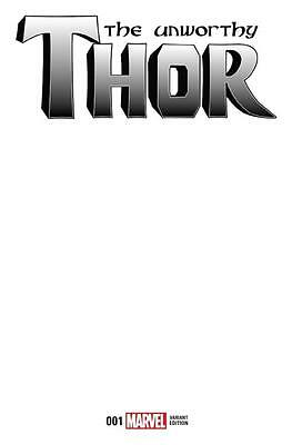 Unworthy Thor #1 Blank Variant Do It Yourself Marvel Comics