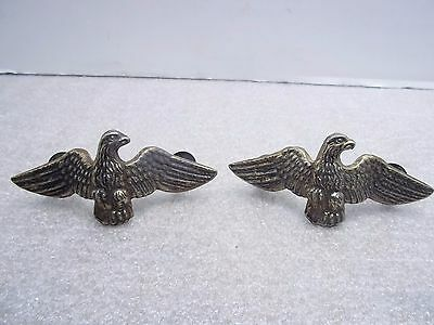 Pair Of Antique Eagle Pulls, Drawer, Furniture, Single Post, Ornate
