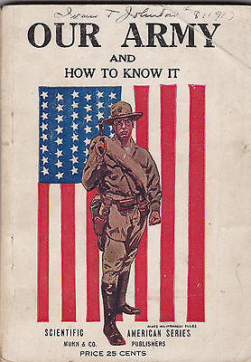 Vintage 1917 Wwi Our Army Our Navy & How To Know It Many Illustrations Book