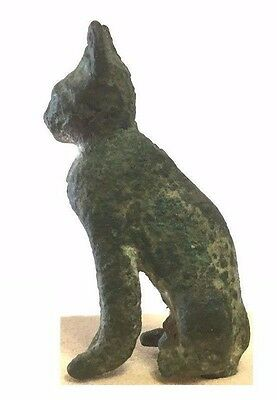 Ancient Egyptian bronze Cat.
