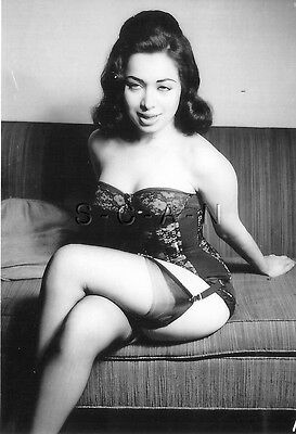1940s-60s (4 x 6) Repro Risque Pinup RP- Blond- Sheer