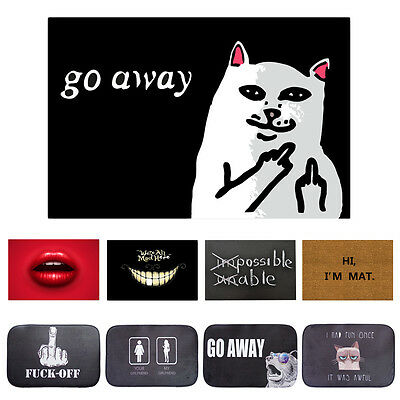 Mat Bathroom Floor Kitchen Rug Carpet Slip Doormat Anti Entrance Door Room Funny