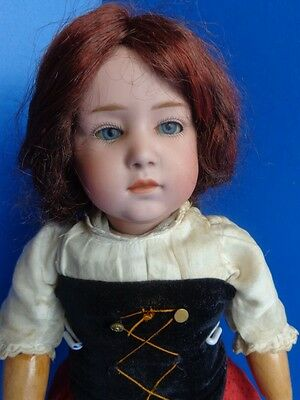 """17"""" Antique German Gebruder Heubach Pouty Character Doll #6970- Gorgeous"""