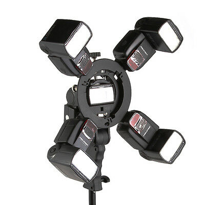 5in1 Bracket S-Type Bowens Mount Handle Holder for Speedlite Flash Snoot Softbox