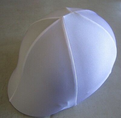 Horse Helmet Cover ALL AUSTRALIAN MADE White lycra Any size you need