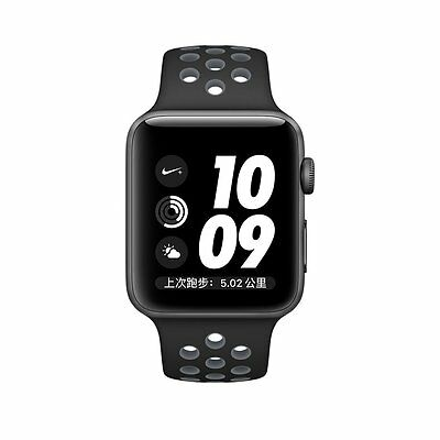 Black Grey New Style Sports Silicone Bracelet Strap Band For Apple Watch 38mm