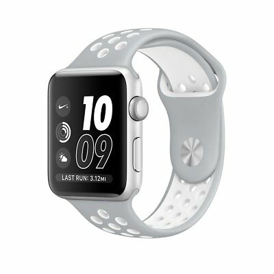 Silver White New Style Sports Silicone Bracelet Strap Band For Apple Watch 38mm