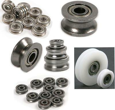 Steel U or V Groove Sealed pulley/ Ball Bearing Roller Guide For Mechanical
