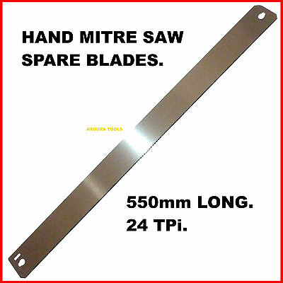 HAND MITRE SAW SPARE BLADES- 550mm LONG - 24TPI - BRAND NEW.