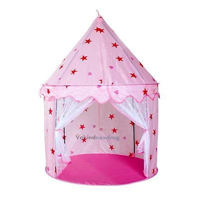 New Kid Children Play Tent Pink Princess Castle Indoor Outdoor Playhouse Gift VF