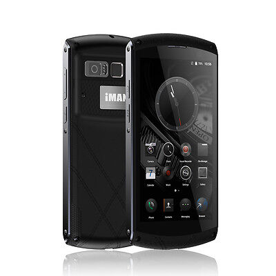 "Black IMAN Victor 5.0"" Octa Core 4G Android IP67 Waterproof Smartphone 3GB 32GB"