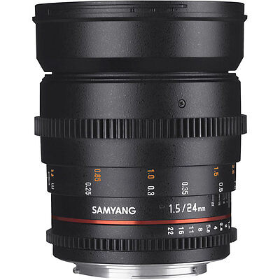 Samyang 24mm T1.5 VDSLR ED AS IF UMC II Lens in Sony E Fit