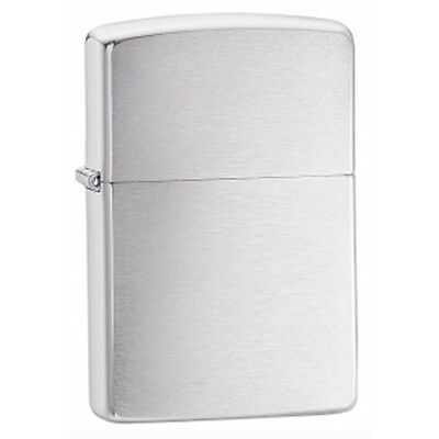 Brushed Chrome Armor Zippo Lighter - Small Pocket Gift Present Smokers Accessory
