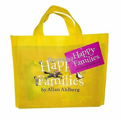 Happy Families 10 Book Set Collection - Free Gift Bag - Allan Ahlberg