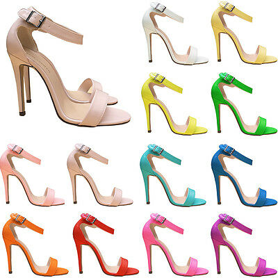 New Simple Ladies Womens Party Bridal Patent Leather High Heels Shoes Sandals