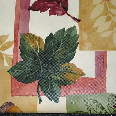 FALL LEAVES VINYL TABLECLOTH~Flannel Back~ALL SIZES~Thanksgiving Harvest~NEW