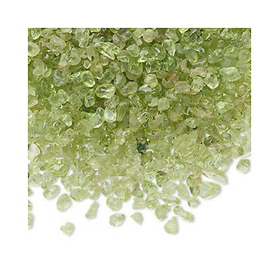 Packet of 50g Green Peridot 3-10mm Undrilled Embellishment Chips YF0725