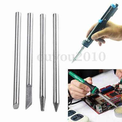 3.7mm Dia 30W Replaceable Electric Soldering Iron Bit Silverline Four Shape Tips