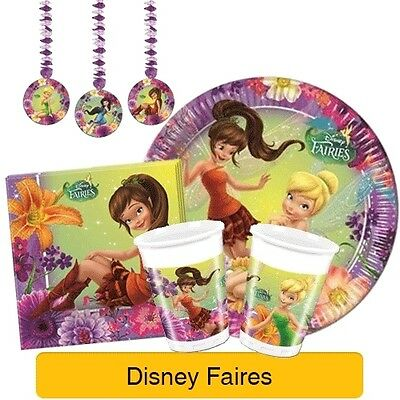 DISNEY FAIRIES MAGIC - Birthday PARTY RANGE (Tableware Decorations)(Tinkerbell)