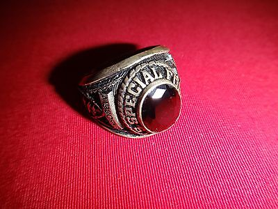 US SPECIAL FORCES AIRBORNE Silver Ring With A Dark Stone