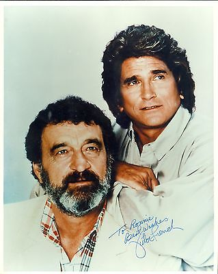 GF/Autogramm  VICTOR FRENCH †1989  mit Michael Landon