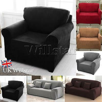 Sofa Couch Stretch Slipcover Easy Fit Elastic Fabric Settee Sofa Cover Protector