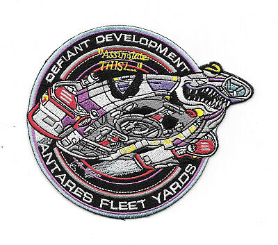 Star Trek: Deep Space Nine Defiant Development Embroidered Patch, NEW UNUSED