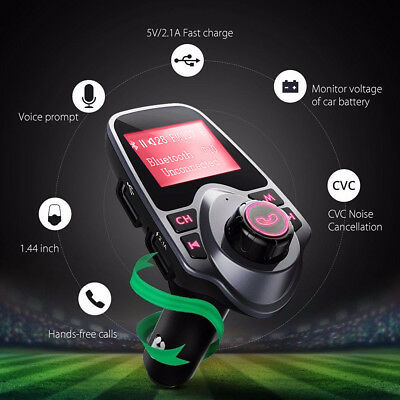 Bluetooth Car Kit MP3 Player FM Transmitter Adapter USB Charger For SAMSUNG S7