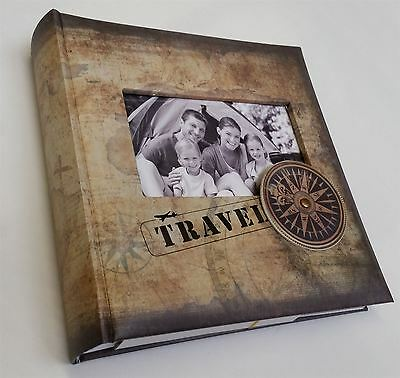 Vintage Map and Compass Design Travel Photo Album