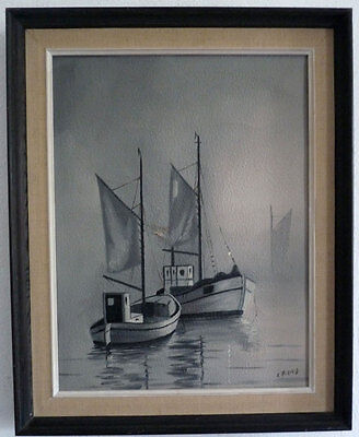 Fishing boats in the Nebel, Middle 20th Century