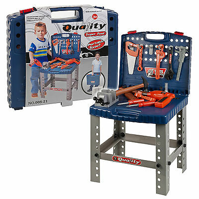 Portable Kids Electric Drill Tool Work Bench Play Toy Work DIY Creative Role Kit