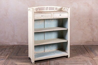 Vintage Original Painted Pine 1920S Bookcase Vintage Shop Display Cabinet