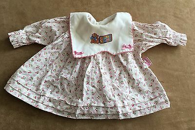 "Zapf baby doll Chou Chou dress 9"" long clothes clothing replacement pink floral"