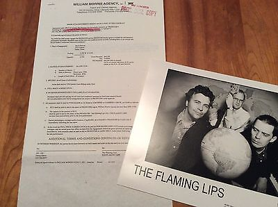 FLAMING LIPS: Vintage Concert Contract, Rider, Photo, Dallas 1994