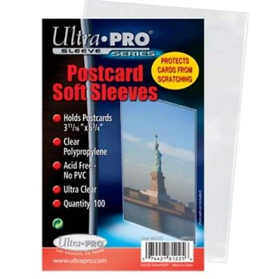 100 Standard Ultra Pro Postcard Sleeves 3.68 X 5.75 Archival Safe Acid Free